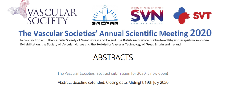 Call for Abstracts - The Vascular Societies' ASM 2020